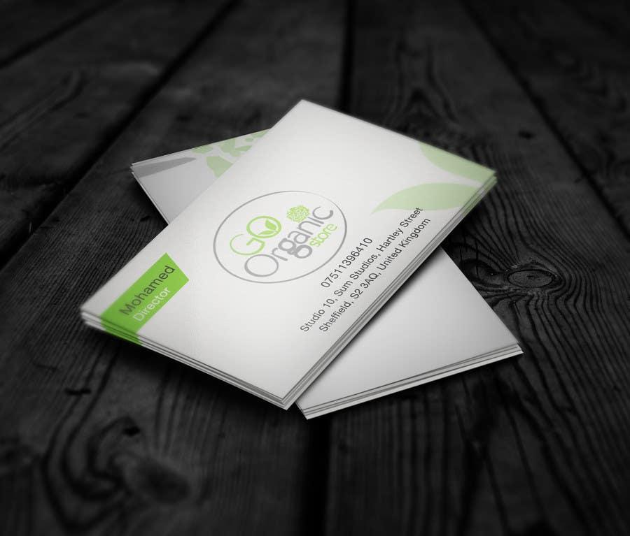 Konkurrenceindlæg #                                        3                                      for                                         Design some Business Cards for Go Organic Store