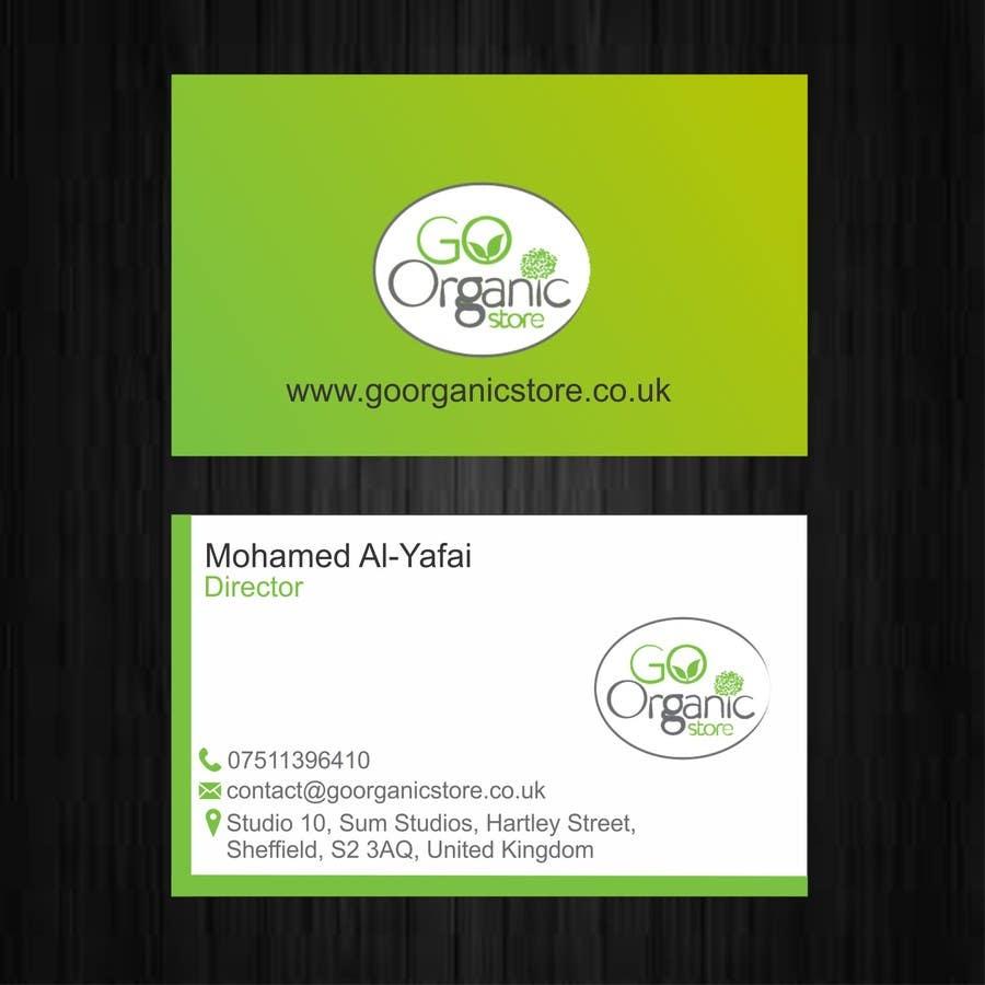 Konkurrenceindlæg #                                        37                                      for                                         Design some Business Cards for Go Organic Store