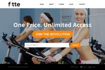 Graphic Design Konkurrenceindlæg #13 for Design a Website Mockup for Fitness Business