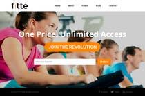Graphic Design Konkurrenceindlæg #23 for Design a Website Mockup for Fitness Business