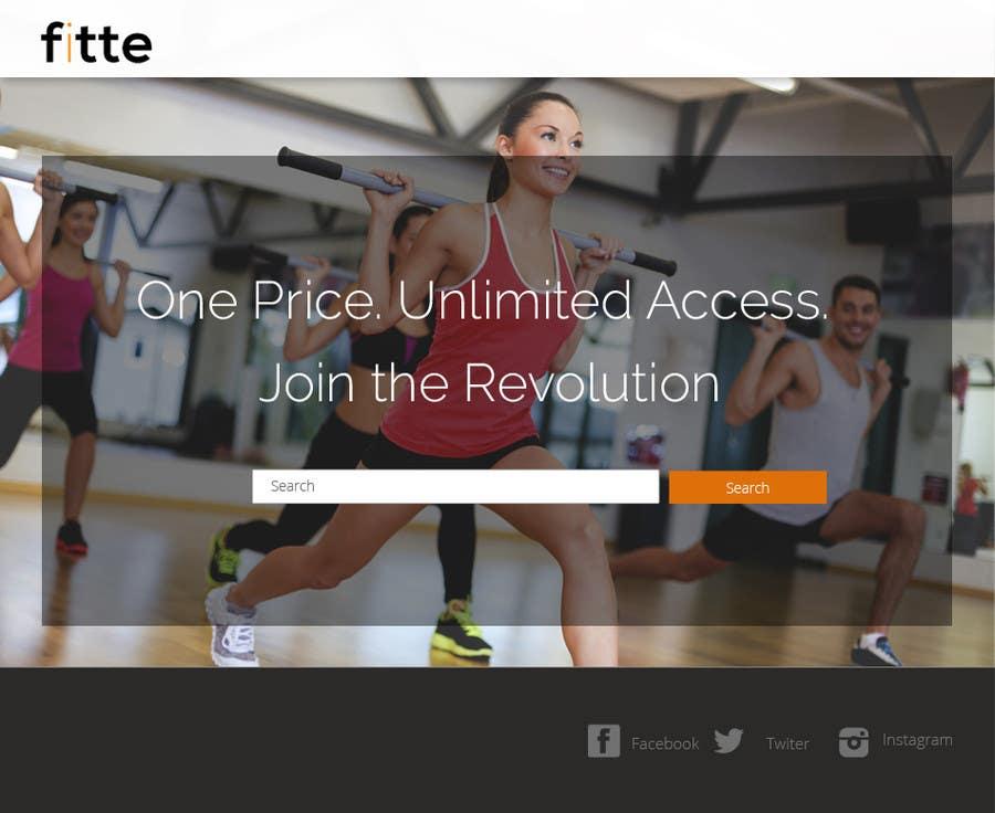 Konkurrenceindlæg #                                        6                                      for                                         Design a Website Mockup for Fitness Business