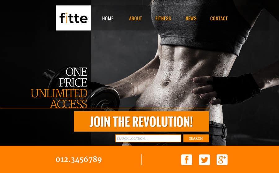 Konkurrenceindlæg #                                        29                                      for                                         Design a Website Mockup for Fitness Business