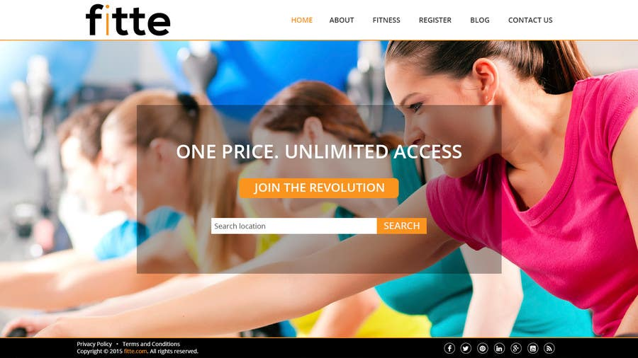 Contest Entry #                                        28                                      for                                         Design a Website Mockup for Fitness Business
