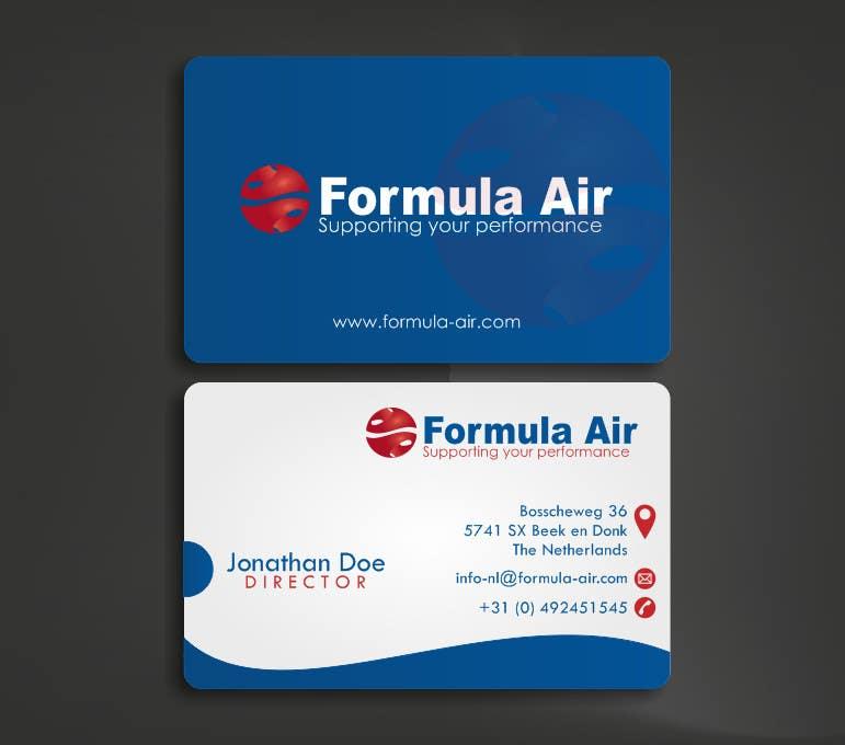 Kilpailutyö #19 kilpailussa Formula Air businesscards!