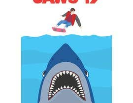 #56 untuk BAck to the future 2 JAws 19 Holographic Shark Tee Shirt Design oleh sechavia