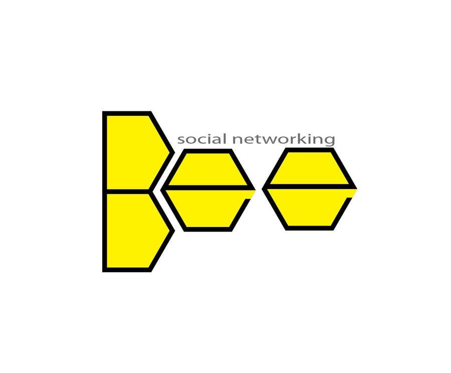 Kilpailutyö #295 kilpailussa Logo Design for Logo design social networking. Bee.Textual.Illustrative.Iconic