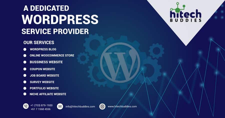 Kilpailutyö #                                        12                                      kilpailussa                                         Design a Facebook stunning post for wordpress services