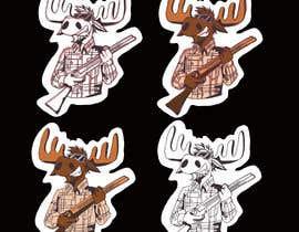 #93 para Undercover Moose Sticker por artworm1985