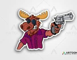 #109 para Undercover Moose Sticker por artoondesigns18