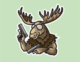 #97 för Undercover Moose Sticker av ura