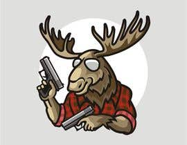 #123 para Undercover Moose Sticker por ura