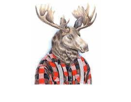 #49 dla Undercover Moose Sticker przez RayhanUddin07