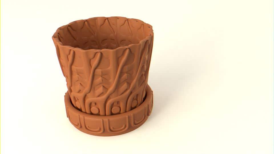 Contest Entry #                                        49                                      for                                         3D Plant Pot Design