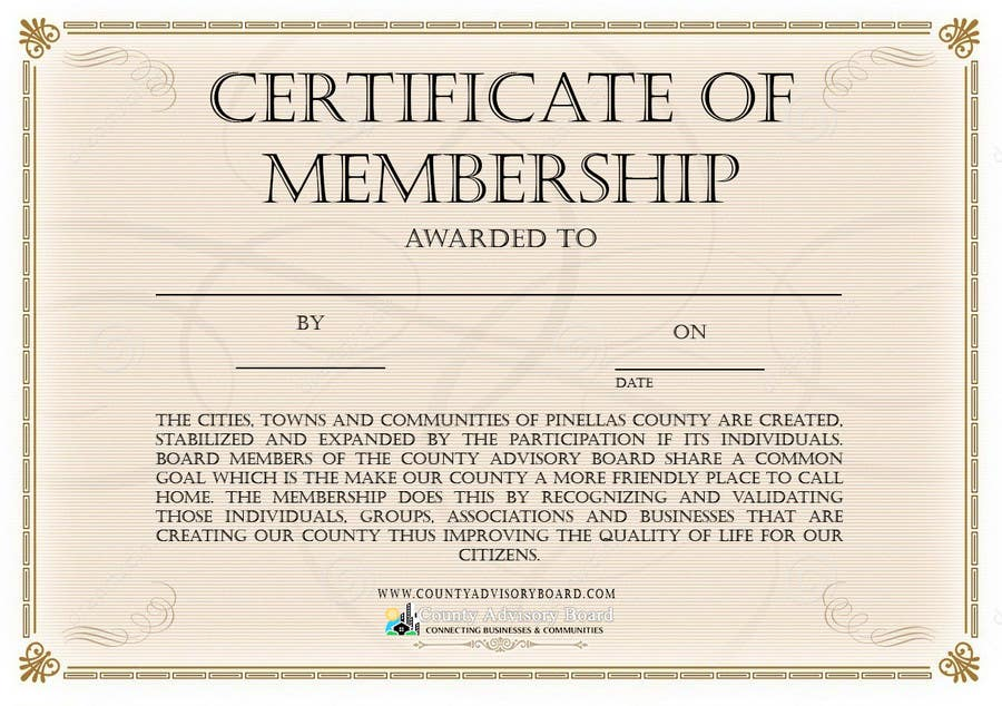 Contest Entry #                                        2                                      for                                         Design a membership certificate