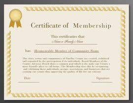 #5 for Design a membership certificate by tanzeelhussain