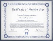 Graphic Design Contest Entry #6 for Design a membership certificate