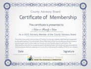 Graphic Design Contest Entry #15 for Design a membership certificate
