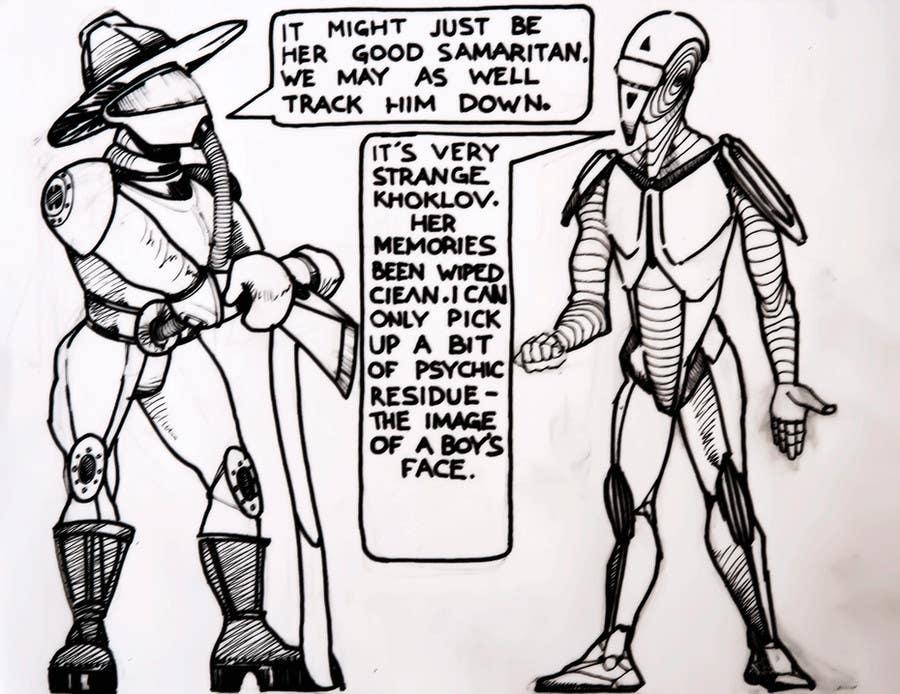 Kilpailutyö #21 kilpailussa Illustrate Page from Graphic Novel