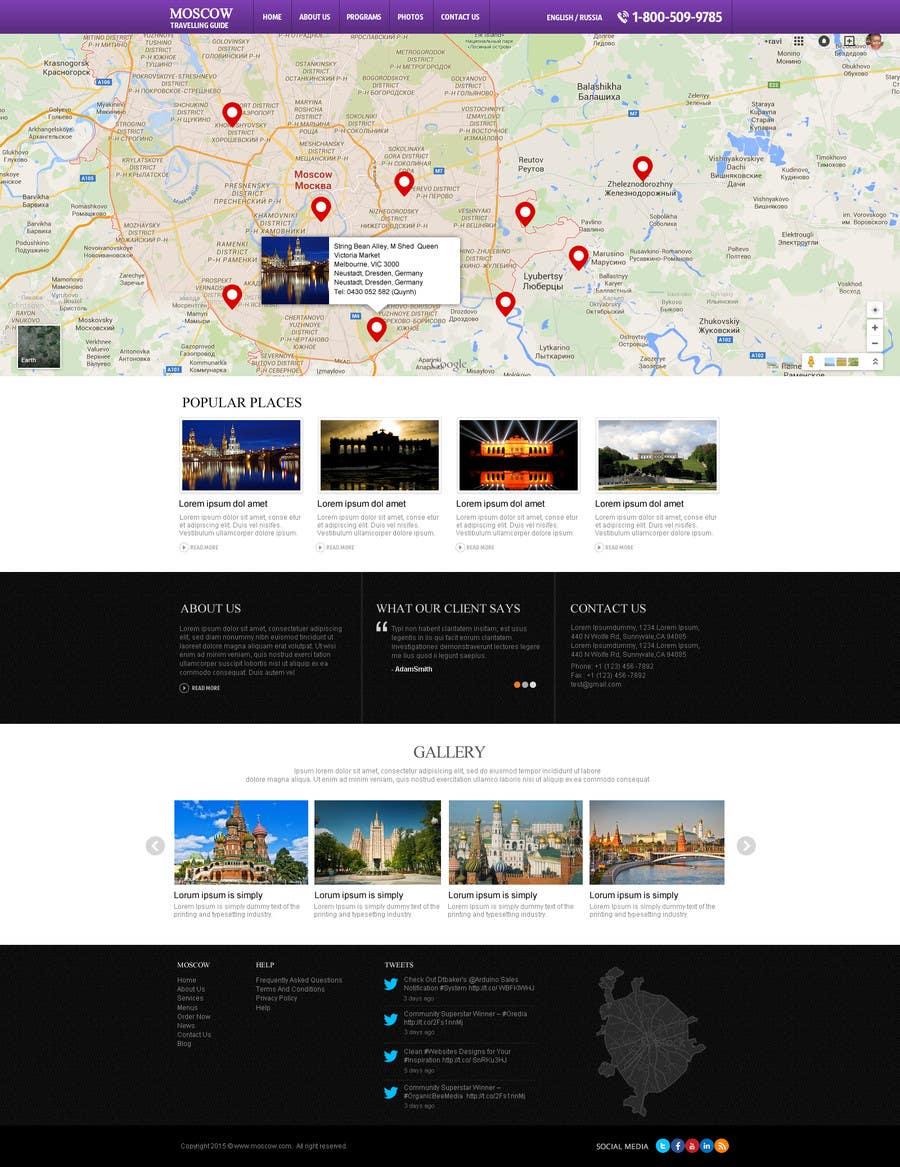 Konkurrenceindlæg #                                        8                                      for                                         Design a Website Mockup for City Travelling Guide