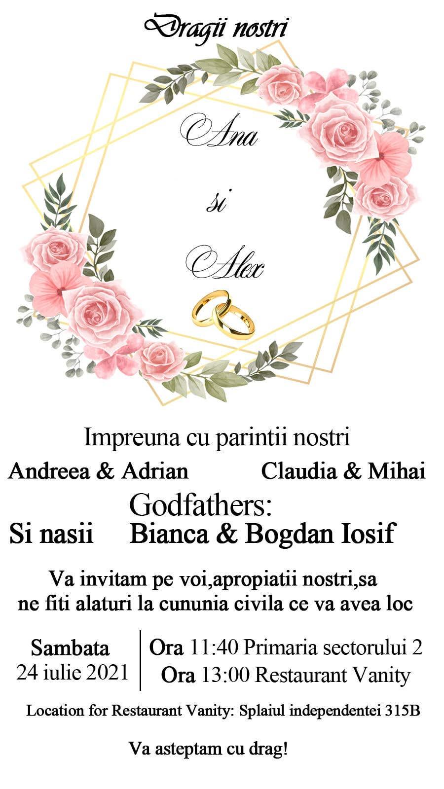 Kilpailutyö #                                        10                                      kilpailussa                                         Wedding invitation template