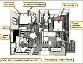 #12 untuk 2 bedroom apartment interior design oleh ronaaron2