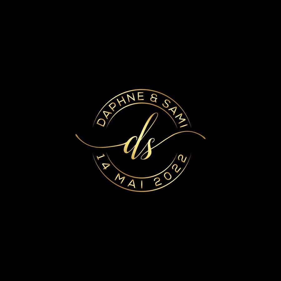 Penyertaan Peraduan #                                        64                                      untuk                                         Design modern and simple wedding  GOLD monogram logo for a WEDDING