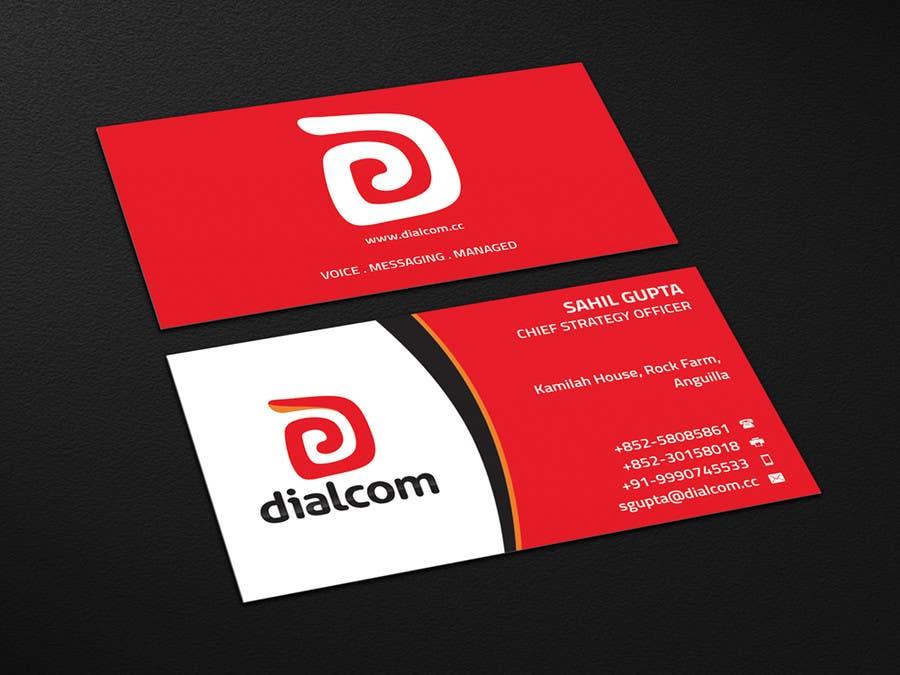 Konkurrenceindlæg #                                        136                                      for                                         Design some Business Cards for Dialcom Inc.