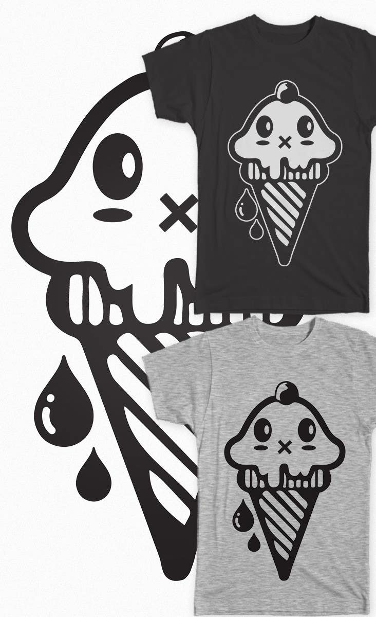 Contest Entry #                                        21                                      for                                         VERY SIMPLE JOB - Design a kawaii ice cream t-shirt print for infant/children's clothing brand