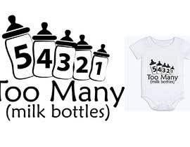 Nro 17 kilpailuun Custom Typography Graphic Design - 54321 Too Many (milk bottles) käyttäjältä DulajGraphic