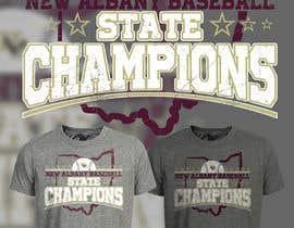 #232 untuk New Albany Ohio Baseball State Champs Tee Shirt Design oleh Maxbah