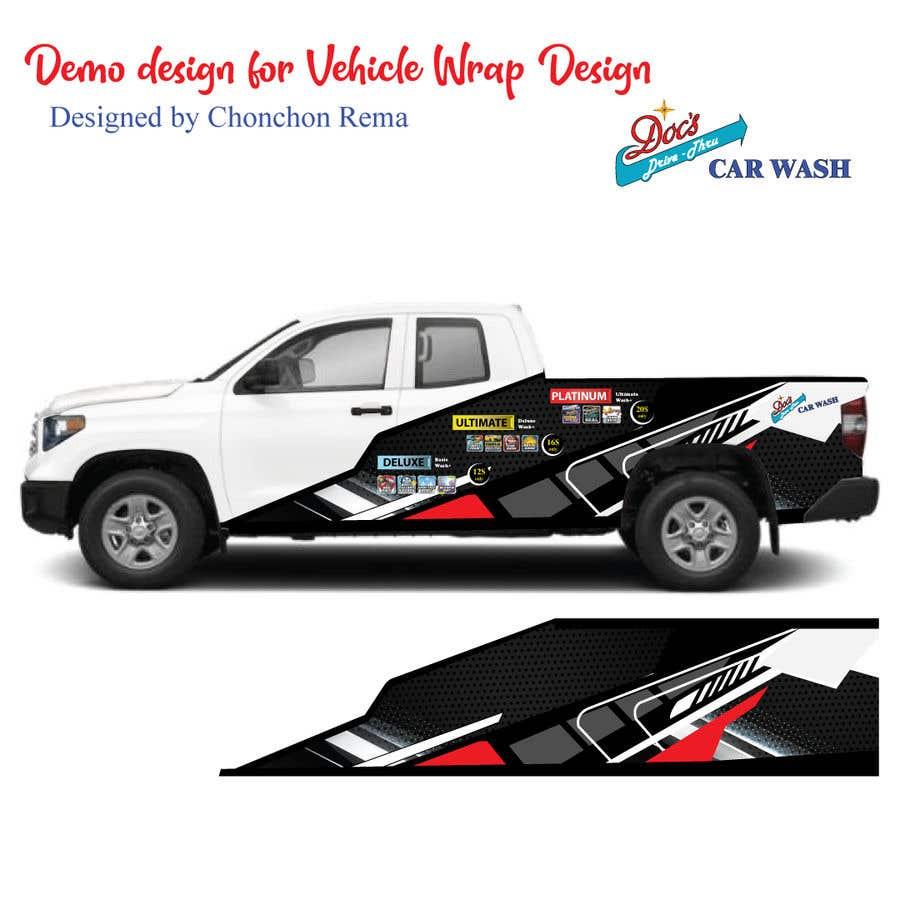 Kilpailutyö #                                        10                                      kilpailussa                                         Partial Truck Wrap Design
