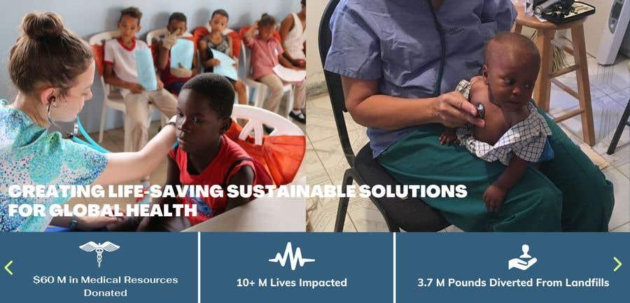 Penyertaan Peraduan #                                        9                                      untuk                                         WordPress photo/home page info layout assistance (for global aid organization)
