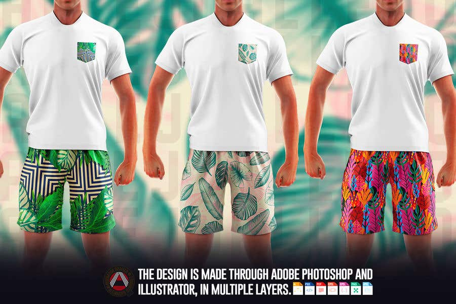 Bài tham dự cuộc thi #                                        63                                      cho                                         Mens swim suit with pocket shirt matching design!