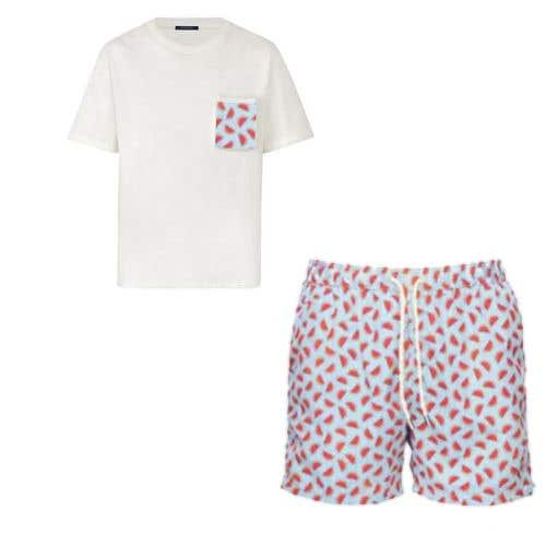 Bài tham dự cuộc thi #                                        45                                      cho                                         Mens swim suit with pocket shirt matching design!