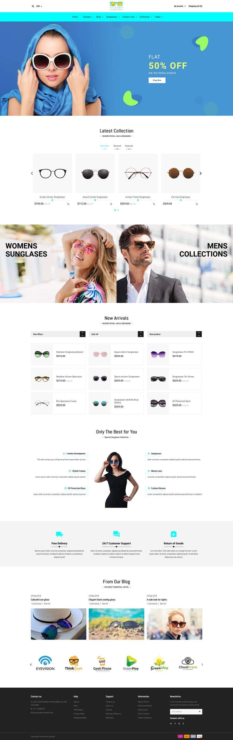 Konkurrenceindlæg #                                        52                                      for                                         Design an online shopping page for my website