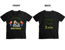 Nro 79 kilpailuun Tshirt design kids party käyttäjältä Rozeem