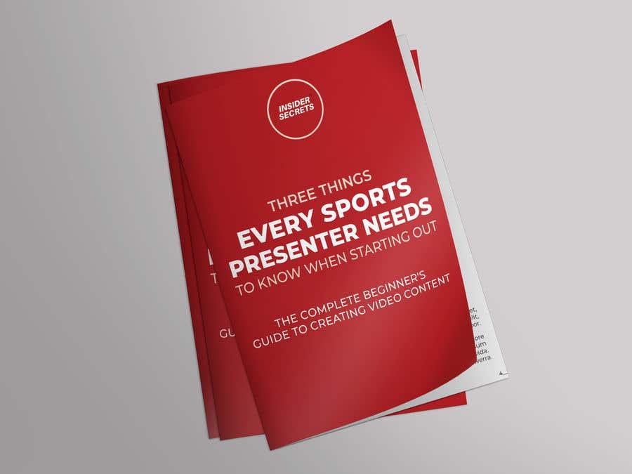 Kilpailutyö #                                        32                                      kilpailussa                                         Design Cover for Slim Book - Free guide for beginner sports presenters