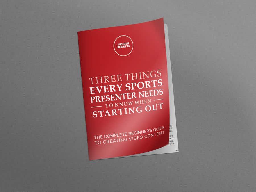Kilpailutyö #                                        121                                      kilpailussa                                         Design Cover for Slim Book - Free guide for beginner sports presenters
