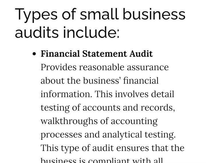 Bài tham dự cuộc thi #                                        7                                      cho                                         Audit my small business