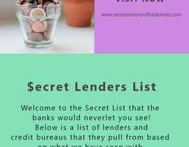 #20 untuk Build me a Secret Lenders List oleh RIYAGHALOTH