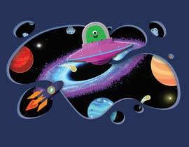 Nro 145 kilpailuun Beautiful cartoon outer space theme illustration designed for Children helmets käyttäjältä malinikhan11