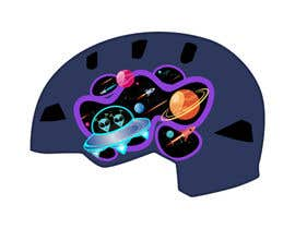 Nro 108 kilpailuun Beautiful cartoon outer space theme illustration designed for Children helmets käyttäjältä erwantonggalek