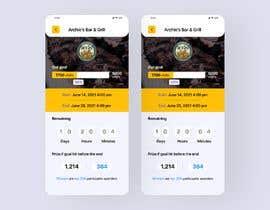 Nro 7 kilpailuun iPhone App Screen Design for GoalPrize Dashboard: UI UX design käyttäjältä JegorBabak