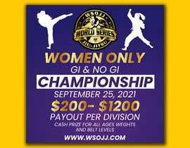 Nro 65 kilpailuun Women's Jiu-Jitsu Event Flyer Virginia and Maryland käyttäjältä FarooqGraphics