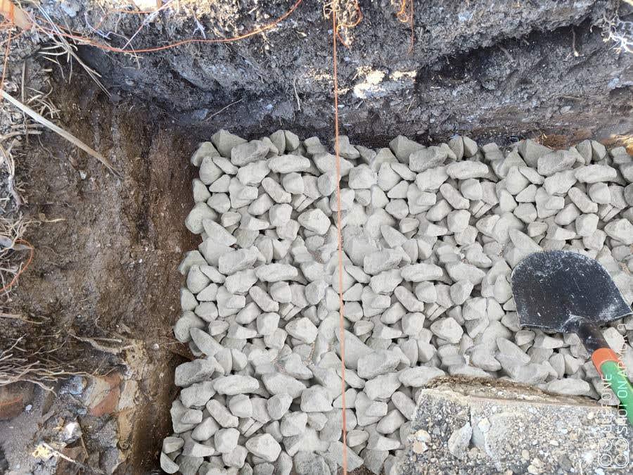 Kilpailutyö #                                        23                                      kilpailussa                                         chalk at base of dug footings