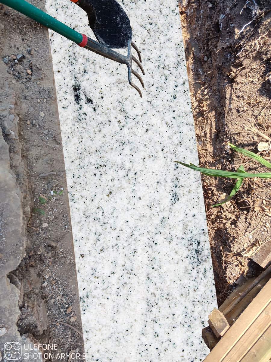 Kilpailutyö #                                        24                                      kilpailussa                                         chalk at base of dug footings