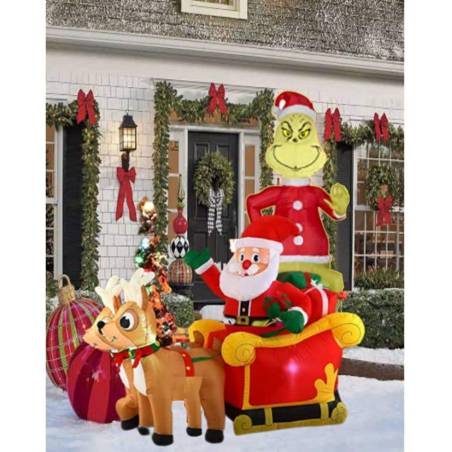 Bài tham dự cuộc thi #                                        22                                      cho                                         Blow Up Inflatable Outdoor Christmas Santa Claus and the Grinch