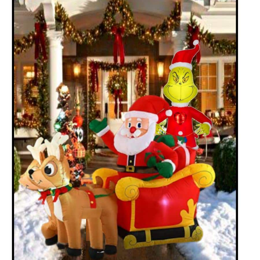 Bài tham dự cuộc thi #                                        25                                      cho                                         Blow Up Inflatable Outdoor Christmas Santa Claus and the Grinch