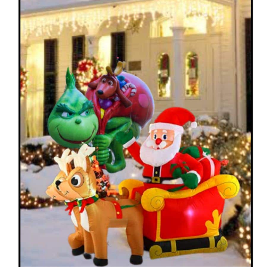 Bài tham dự cuộc thi #                                        32                                      cho                                         Blow Up Inflatable Outdoor Christmas Santa Claus and the Grinch