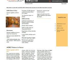 #10 for Design a Newsletter for an Audit firm af kvd05